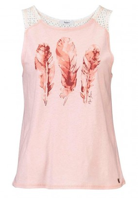 Top with lace, rose
