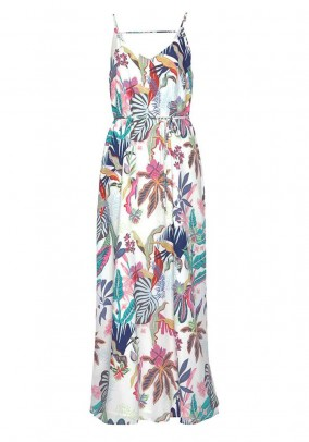 Maxi dress, white-multicolour
