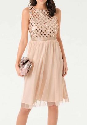 Cocktail dress, apricot