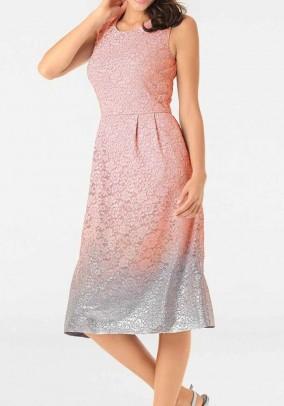 Lace dress, rose-silver