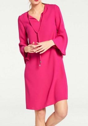 Dress with flounces, pink