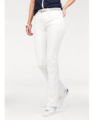 Balti platėjantys džinsai