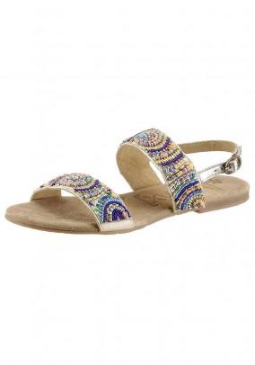 Leather sandal, multicolour