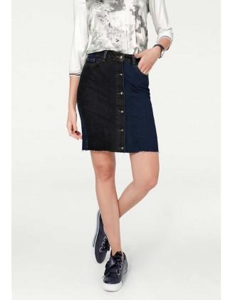 Dvispalvis džinsinis sijonas