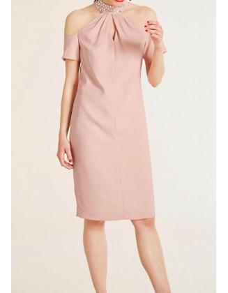 """Rausva kokteilinė suknelė """"Elegant"""""""