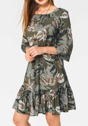 Dress, olive-multicolour