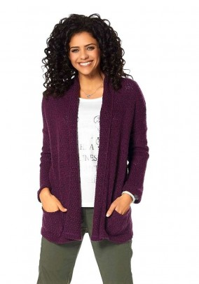 Cardigan, berry