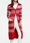 Itin ilgas raudonas megztinis