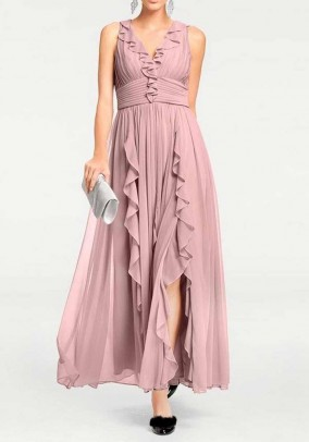 Evening gown, rose-cute