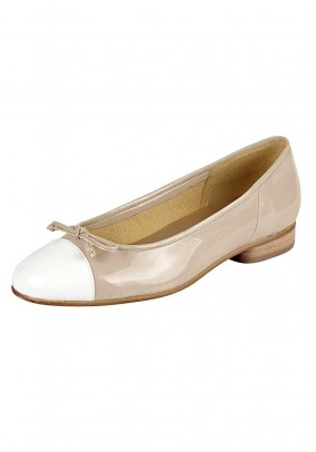 Ballerina shoe, beige-white