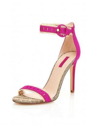 Leather sandal, pink
