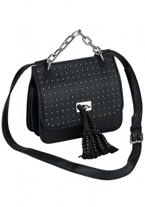 Bag with rivets, black