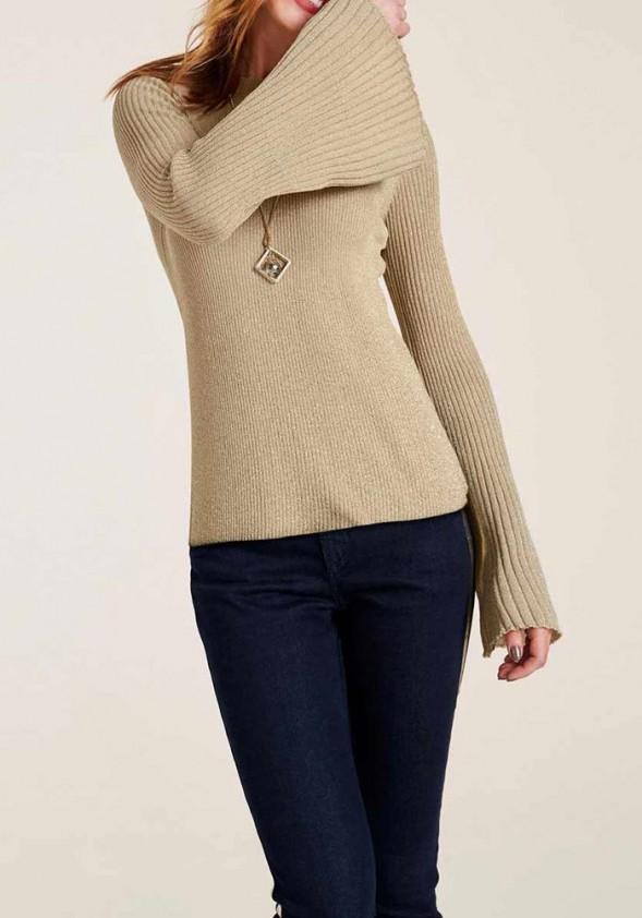 Aukso spalvos megztinis