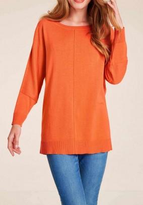 Oversize sweater, orange