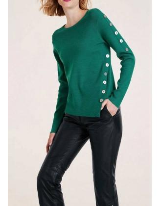 Žalias megztinis su sagomis