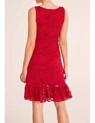 """Raudona nėriniuota suknelė """"Lace"""""""