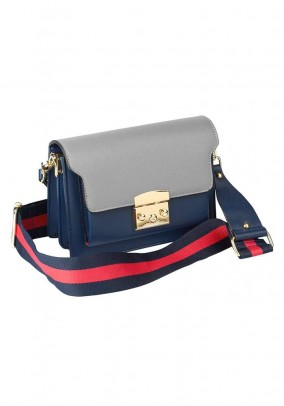 Shoulder bag, blue-grey