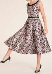 Midi ilgio rausva suknelė