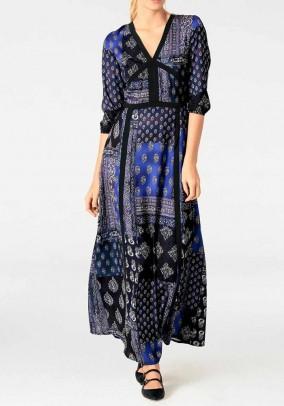 Maxi dress, blue-multicolour