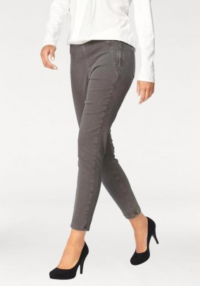 Stretch jeans, grey print, 30inch