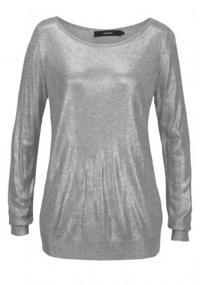 Sweater, grey-metalic