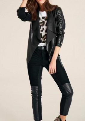 Faux leather jacket, black
