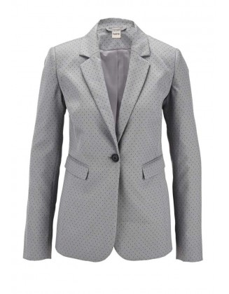 Pilkas taškuotas kostiumas