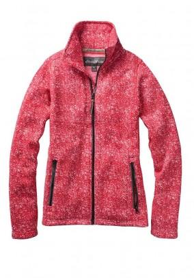 Fleece jacket, red-blend