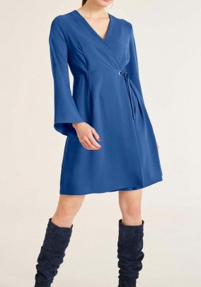 Wrap dress, blue