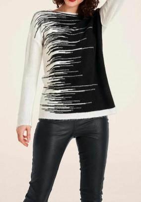 Sweater, ecru-black