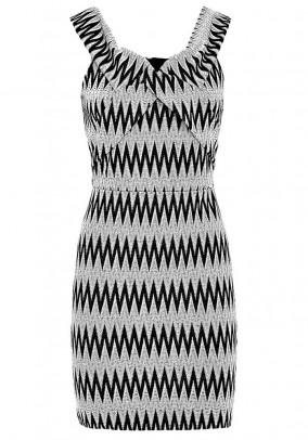 Dress, ecru-black