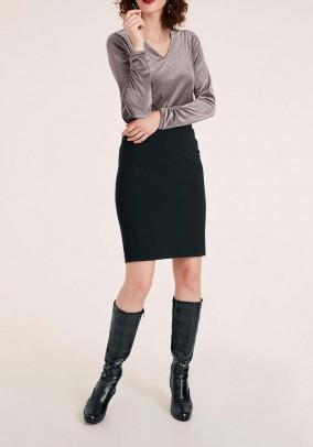 Juodas pieštuko stiliaus sijonas