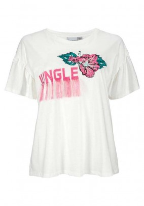 Balti Junarose marškinėliai