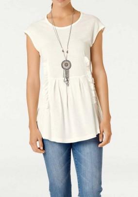 Lace shirt, ecru