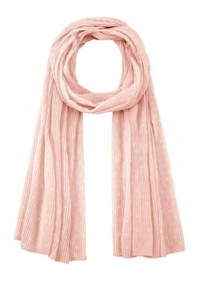 Pleat scarf, rose-cute