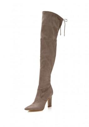 Overknee boots, beige