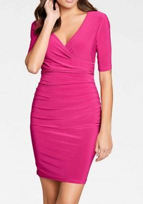 Optimizing jersey dress, pink