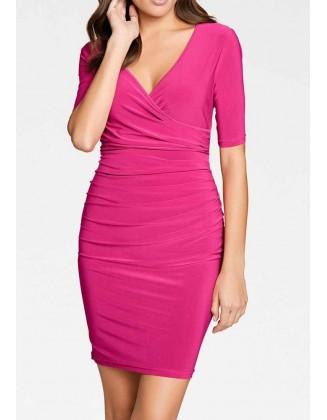 Rožinė aptempta suknelė