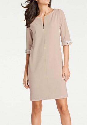 Elegantiška smėlinė suknelė