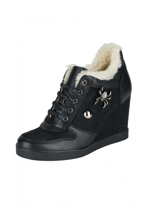 Wedge sneakers, black