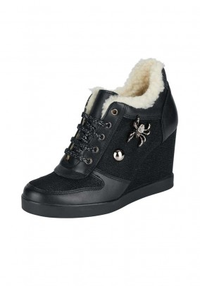 Wedge sneakers, black