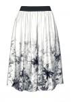 Pilkas satino sijonas