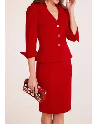 Klasikinis raudonas švarkas