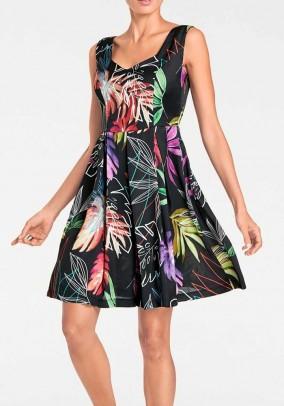 Princess dress, black-multicolour