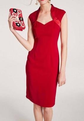 Sheath dress, red