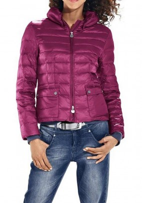 Down jacket, berry