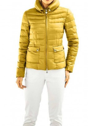 Down jacket, curry