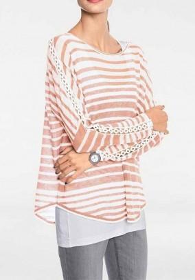 Oversize sweater, rose-ecru