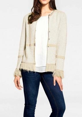 Smėlinis megztinis su kutais