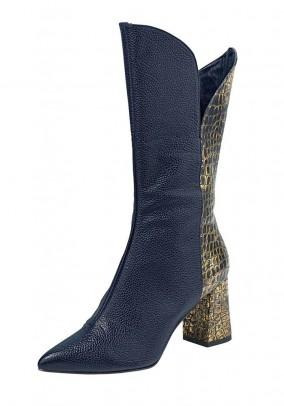 Mėlyni odiniai auliniai batai. Liko 38/39 dydis
